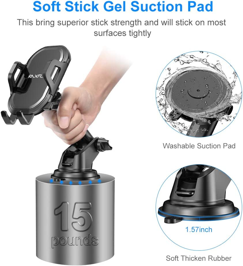 RAXFLY Windshield Air Vent Car Phone Mount 360 Degree Rotation Suction Cup Dashboard Phone Holder Car Mount Compatible with iPhone 11 8 Plus X XR Max Samsung Note 10 Plus Cell Phone Holder for Car