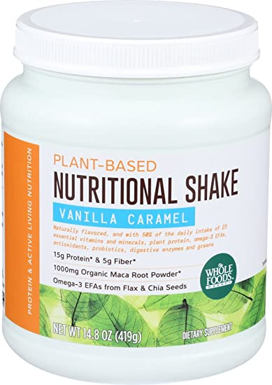 Whole Foods Market, Plant-Based Nutritional Shake - Vanilla Caramel, 14.8 oz