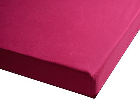 Sancarlos - Sábana bajera , 100% Algodón percal, Color rosa, Cama de 150
