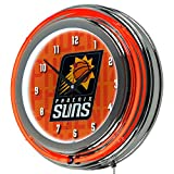 Trademark Gameroom NBA1400-PS3 NBA Chrome Double Rung Neon Clock - City - Pheonix Suns