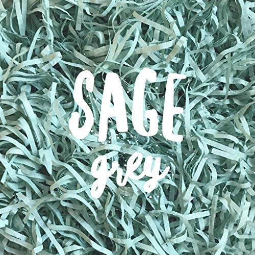 - Sage Grey Dusty Green Shredded Tissue Paper Shred Hamper Gift Box Basket Filler Fill Baby Shower Easter Wedding Party Christmas Decor