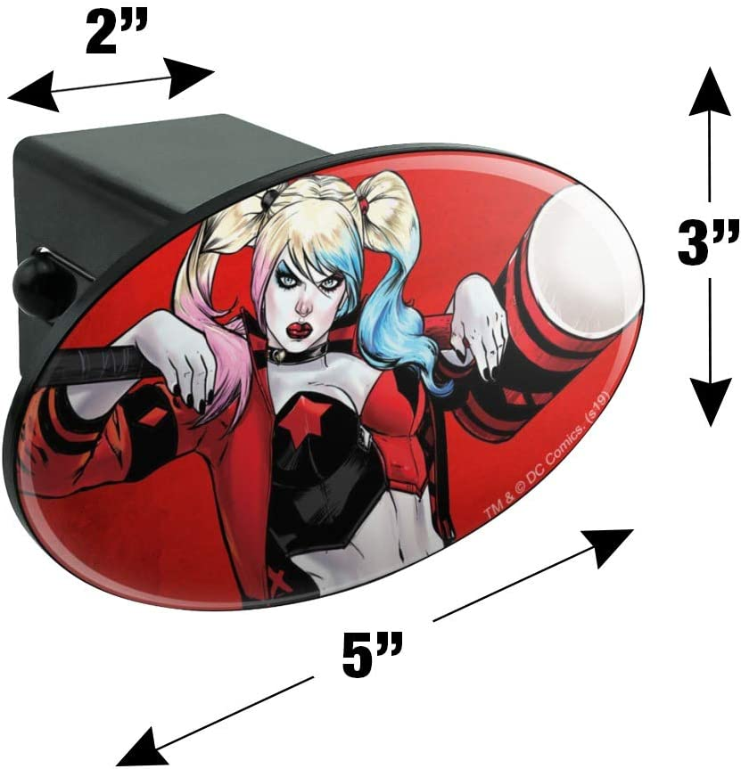 Graphics and More Harley Quinn Character Oval Tow Trailer Hitch Cover Plug Insert