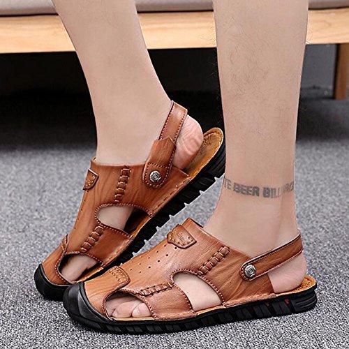 Casual C Shoes Anti Collision dimensioni Moda Casual Uomo EU42 B CJC Outdoor Colore Escursionismo UK8 Leather chiusa Sandali punta Estate 5 Beach Fisherman 0PqTwZn6