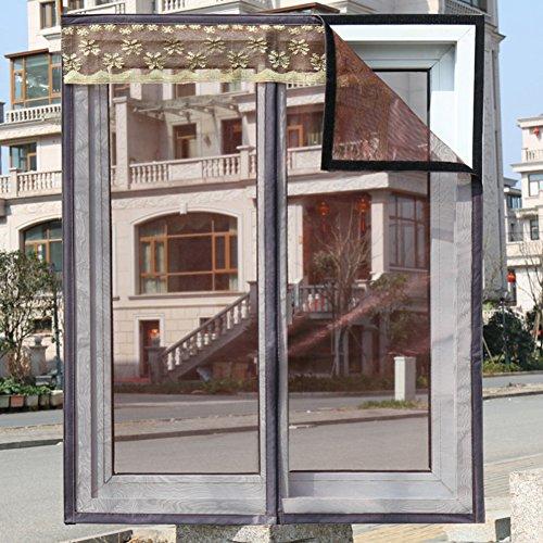 Simple sand window anti-mosquito invisible screen self-adhesive magnetic stripe magic sticker self-adhesive screen gauze screen door-D 100x100cm(39x39inch)
