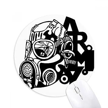 Máscara de gas para la contaminación del aire, silueta del ejército, redonda, antideslizante