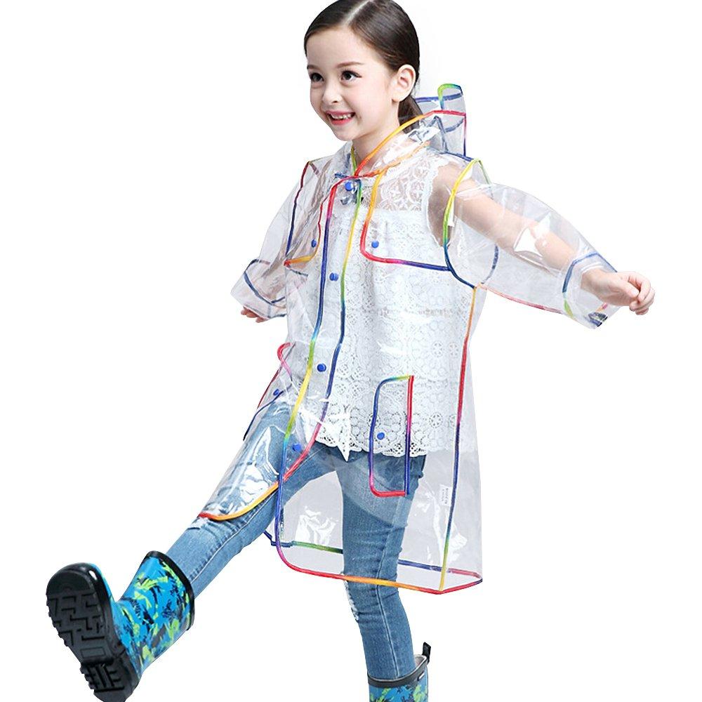 Kid's Lightweight Elf Genius Shape Rainproof Windbreaker Raincoat Rain Poncho with Hood