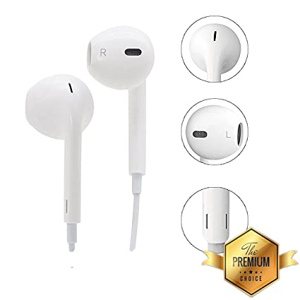 MATT Pie Hands-free Headphones with 3 5 mm Jack Calling Mic for Oppo F7  (White)