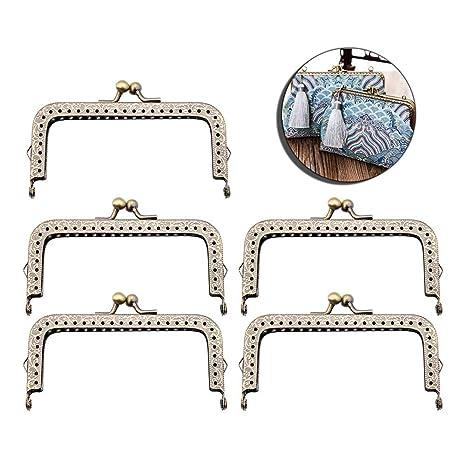 Zeagro 30 Pieces 10cm Metal Internal Flex Frames Kiss Clasp Bag Coin Purse Sewing