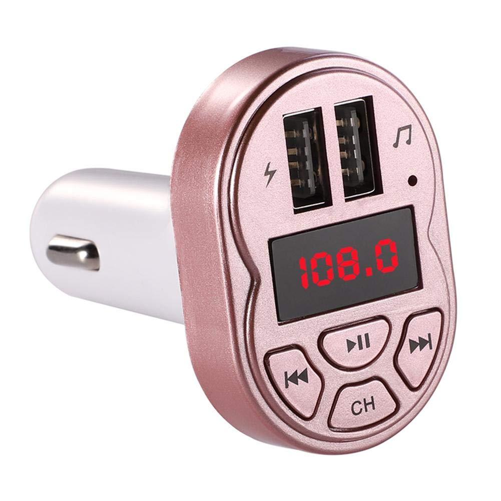 カーアクセサリー Goodfeng A2 ミニ FMトランスミッター ワイヤレス 自動 Bluetooth カーキット ステレオ MP3プレーヤー car accessories Goodbenemall  ローズゴールド B07MZVJK35