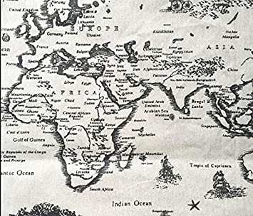 Amazon world map linen fabric by the yard 1 yard world map linen fabric by the yard 1 yard gumiabroncs Images