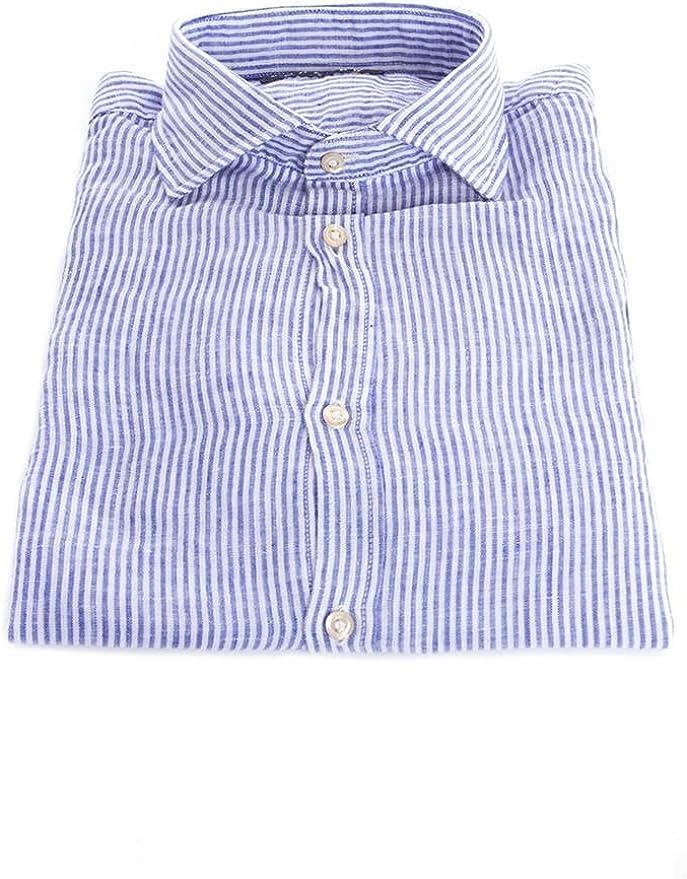 Scalpers Fancy Linen Shirt Camisa, Stripes, 44 para Hombre ...