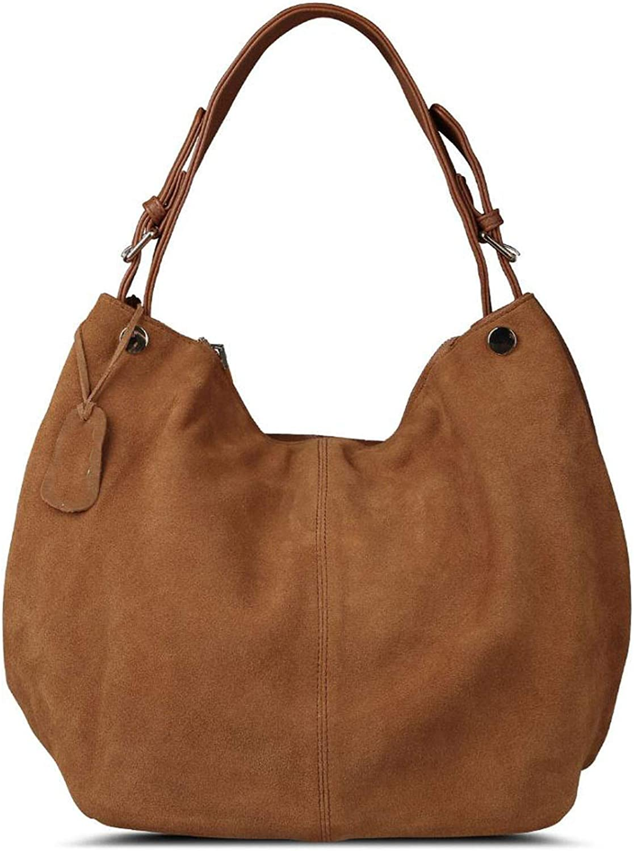 Women Real Split Suede Leather Hobo Bag New Design Female Leisure Large Shoulder Bags Shopping Casual Handbag Sac