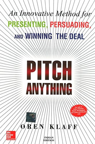 Thing need consider when find pitch anything by oren klaff paperback?