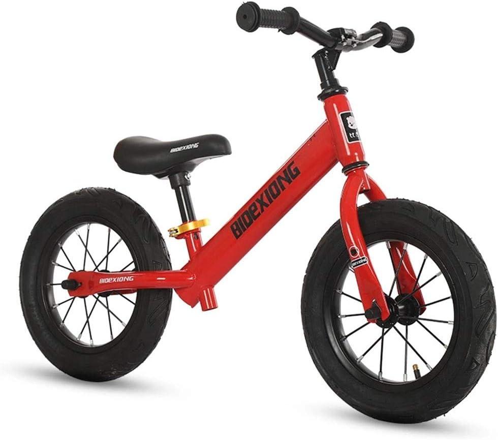 LIMUZI Balance de Bicicleta for niños Edad 3 a 6 Años No-Pedal de la Bici Caminar Equilibrio Formación niños pequeños con Asiento Ajustable Interior Al Aire Libre