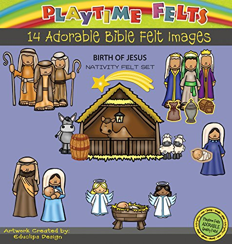 Birth of Jesus Nativity Felt Figures for Felt Playboards (Nativity Felt)