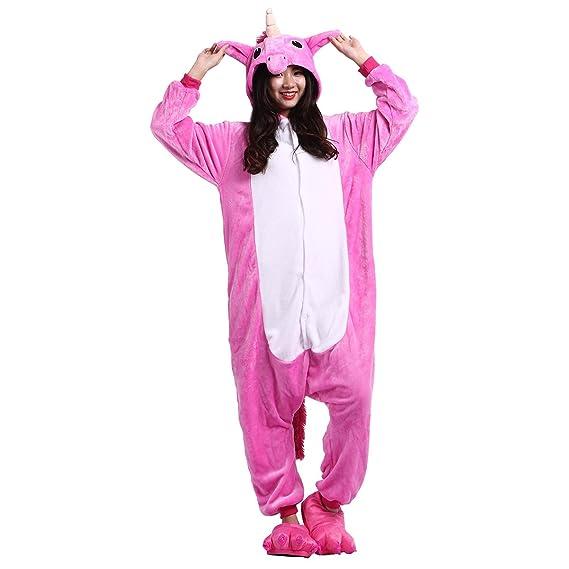 Casa Adulto Animal Licorne Pijamas Con Capucha Kigurumi Unisexo la Ropa de noche del Traje del Anime de Cosplay Disfraz Homewear Lounge Sleepwear del ...