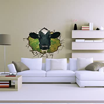 YanCui@ D (sell Cute Cow) Wall Sticker Wallpaper HD Self Adhesive Paper