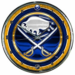 NHL Buffalo Sabres Chrome Clock, 12 x 12