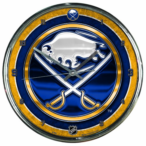 NHL Buffalo Sabres Chrome Clock, 12