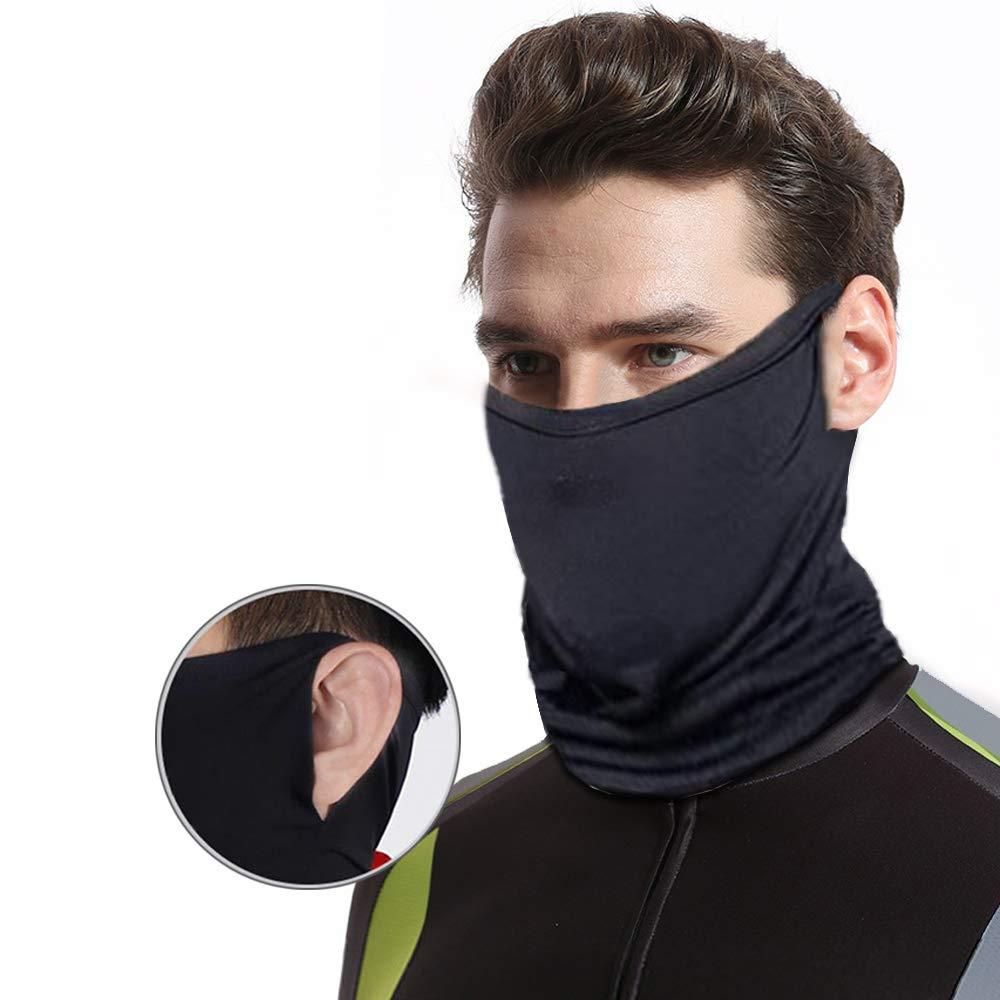 Women Men Bandana Face Covering Cycling Gaiter Tube Snood Scarf Neck Multi-Use