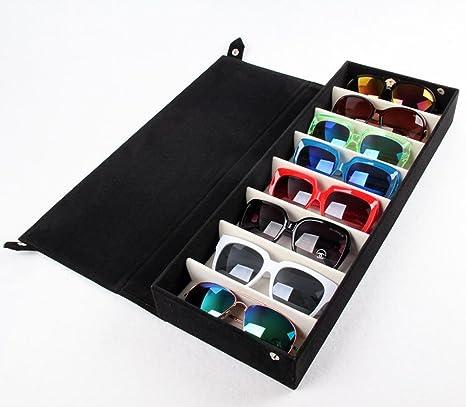 Beddingleer Almacenamiento de gafas / Caja de Vitrina ...