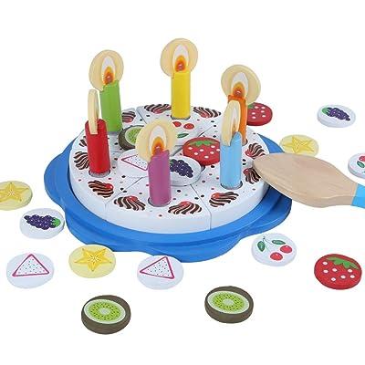 B B&Julian Set de 32 Découpes à gâteau d'anniversaire en Bois pour Enfant à partir de 1 an: Juguetes y juegos