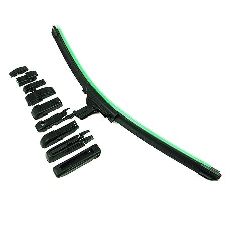 DaDi Escobillas Limpiaparabrisas Adecuado para Diferentes Tipos de Coche con 10 Diferente Adaptadores 500mm (20