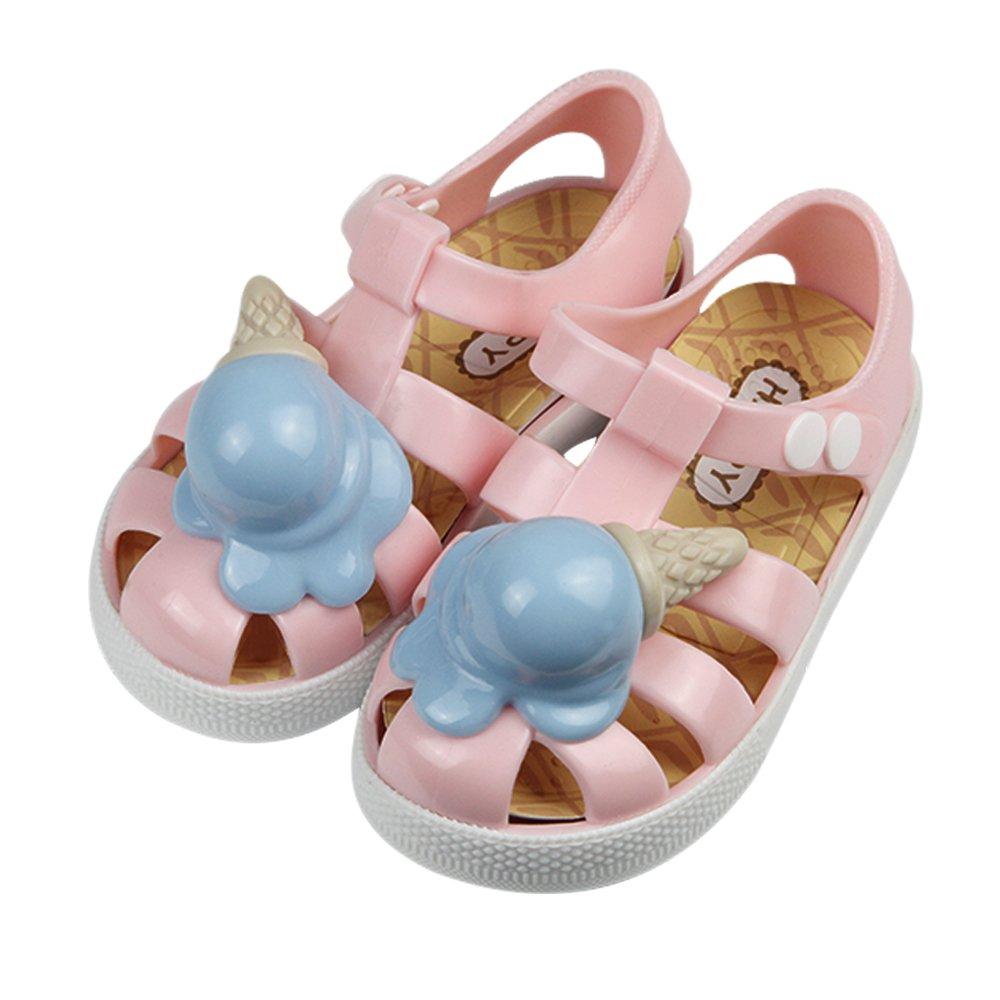 iFANS Unisex Child Candy Color Ice Cream Roman Anti-Slip Sandal