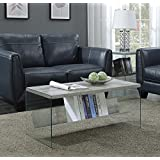 Convenience Concepts SoHo Coffee Table, Faux Birch/Glass