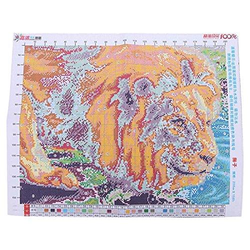 Lion drink water cross stitch - SODIAL(R) Lion drink water cross stitch Lion pattern cross stitch (Carol Drink Water)