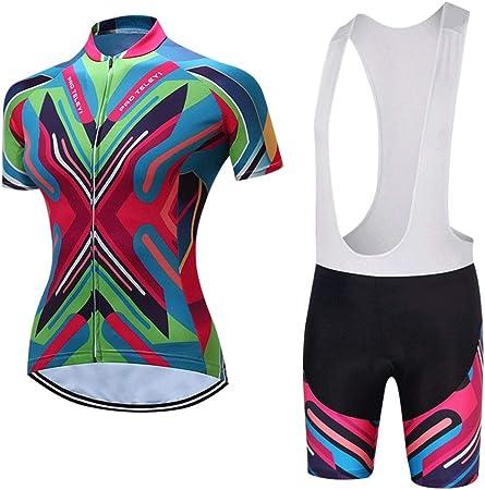 Lilongjiao Ciclismo Jersey para Mujer Camisa de Carretera de ...