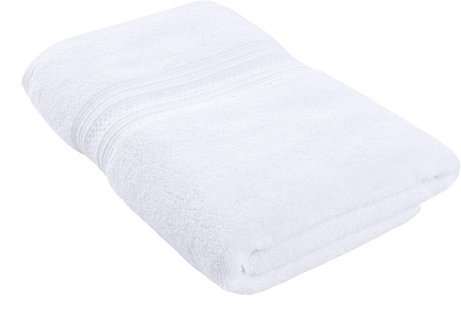Utopia Towels Pack of 24-700 GSM Premium Cotton Bath Towel (White, 27 x 54 Inches) Luxury Bath Sheet Perfect for Home, Bathrooms, Pool and Gym Ring-Spun Cotton (White) by Utopia Towels (Image #5)