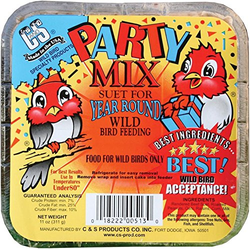 C & S Products and 12513 Party Mix Suet, 11-Ounce