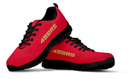 a205a6fbf17 San Francisco Themed Casual Athletic Running Shoe Mens Womens Sizes 49ers  Football SF Apparel and Gifts