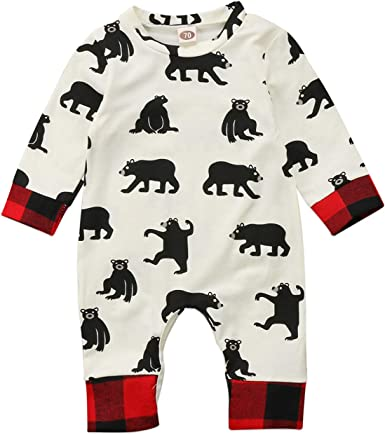 Newborn Baby Boys Bodysuit Short-Sleeve Onesie Patterned Bull Print Jumpsuit Summer Pajamas