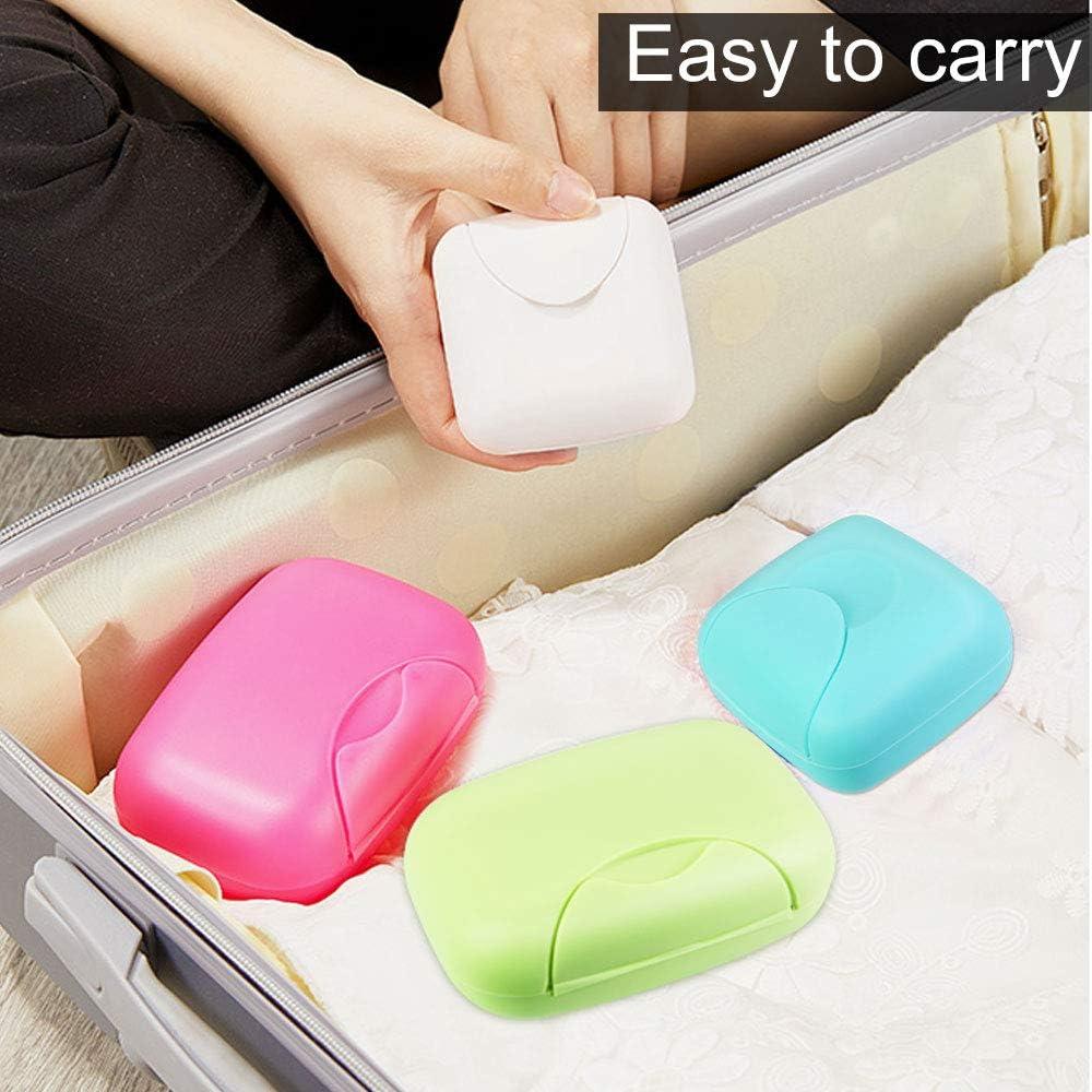 bagno campeggio o altre attivit/à allaperto FOCCTS Portasapone Candy Set di 4 scatole organizzatore per casa viaggi