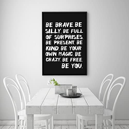 Typografiedruck Inspirierend Plakat Wandkunst Positive Zitate