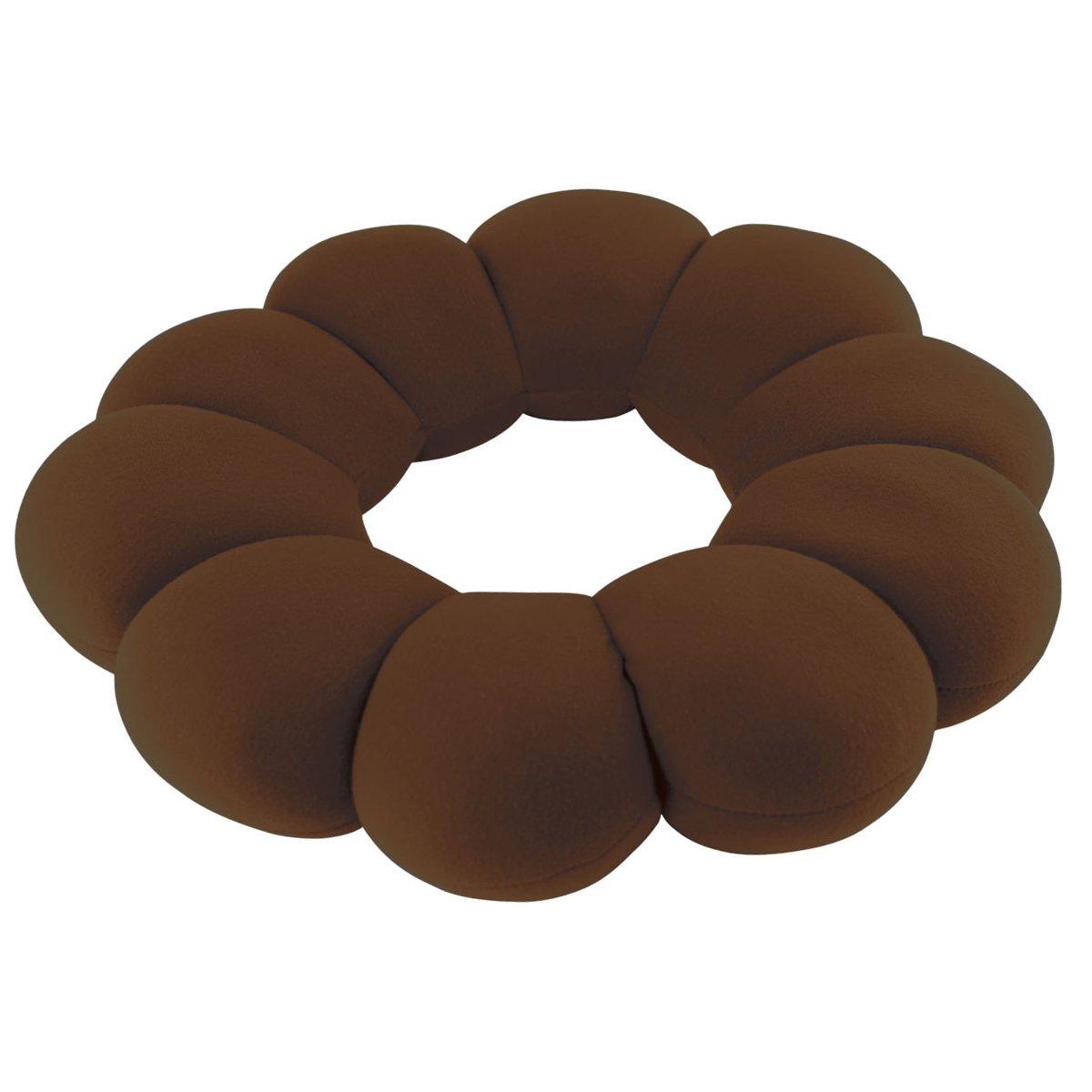 Felicity Hemorrhoid Treatment Donut Travel Pillow Cushion for Hemorrhoids, Prostate Cushion, Pregnancy Cushion (Brown)