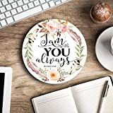 I am with you always - Christian quote - Inspirational Office Decor Mouse pad with bible verse - Pretty office decor - Decorate your office space