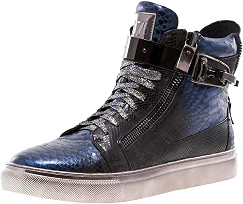 Jump J75 Men/'s Zappa Round Toe Leather Lace-Up Mid-Top Sneaker