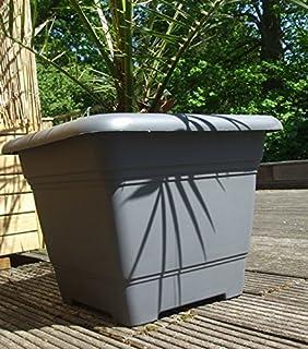 Ordentlich Pflanzkübel NORA quadratisch aus Kunststoff, Farbe:anthrazit;Größe  ZM17
