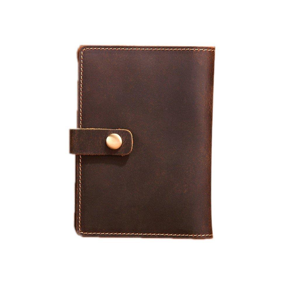 Wallet Men'S Leather Passport Clip Ancient Card Bag Leather Passport Soft Surface Retro Size: 14.5101.5
