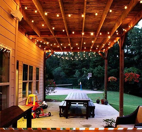 Retro G40 Glass Bulb Al Aire Libre Jardín Linterna Decorativa 25 Bombillas Perfecto Para Patio Garden Festoon Party Decor: Amazon.es: Iluminación