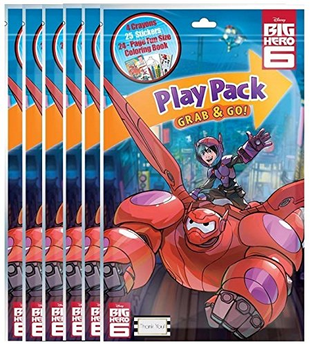 Disneys Big Hero 6 Play Pack Grab and Go - (Six) by BT (Big Hero Six Blu Ray Dvd)