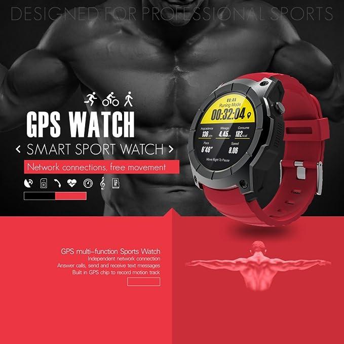 Smart Watch, S958 Deportes Impermeable Pulsera, Monitor de ritmo cardíaco, GPS Pantalla Profesional Tarjeta SIM Calorías Track, Smart Band para ...