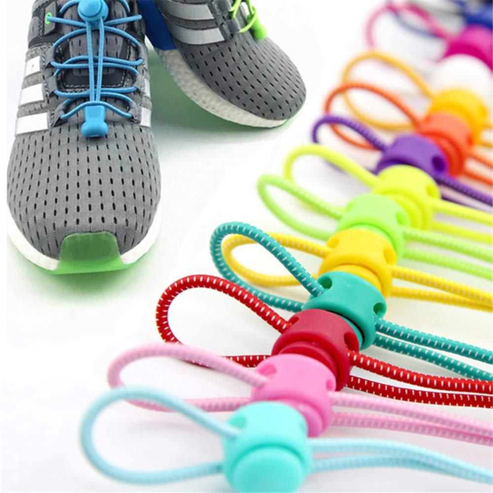 con Serratura KEKEDA Lacci Elastici Senza Lacci Stringhe Elastiche per Scarpe da Ginnastica Sistema di Allacciatura rapido per Corsa