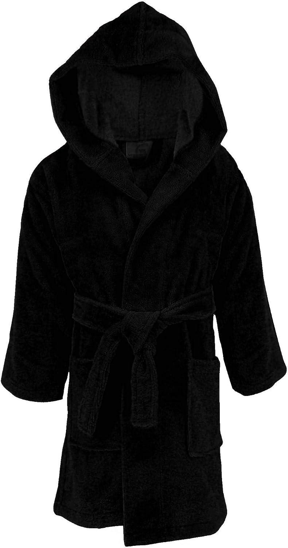 BC BARE COTTON Kids Microfiber Fleece Shawl Robe Boys
