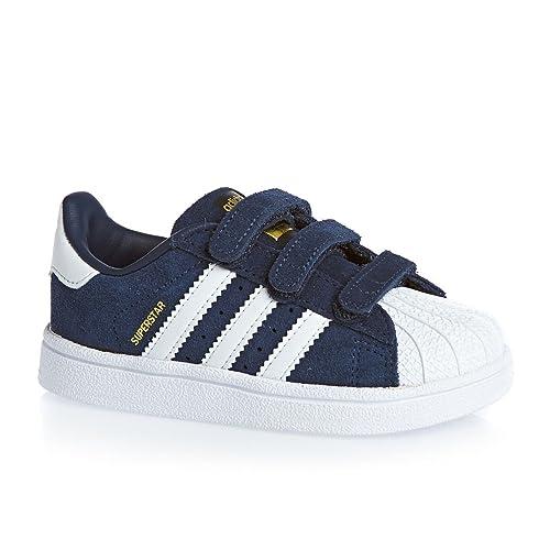 Adidas Superstar CF I Zapatillas de los niños pequeños Azul Oscuro/Blanco Talla:4K UK - 20 EU: Amazon.es: Deportes y aire libre