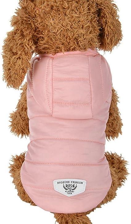 Imagen deRETUROM Ropa para Mascotas Abrigo Grueso Invierno Acolchado Caliente Chaleco Ropa para Mascotas