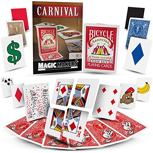Magic Makers Carnival Trick Cards with Included Video Learning and How-to Perform Magic Trick Instructions